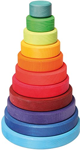 Grimm's Conical Stacking Tower – 11 Pieces – Medium